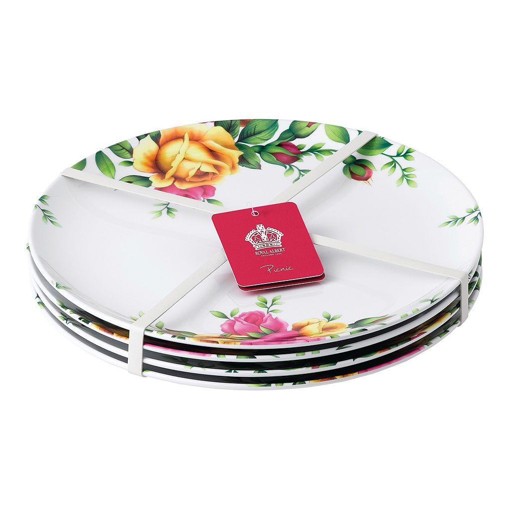 Royal Albert Old Country Roses 4-pc. Melamine Dinner Plate Set