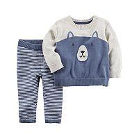 Baby Boy Carter's Little Bear Sweater & Bottoms Set