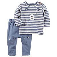 Baby Boy Carter's Embroidered Bear Top & Knee Bottoms Set