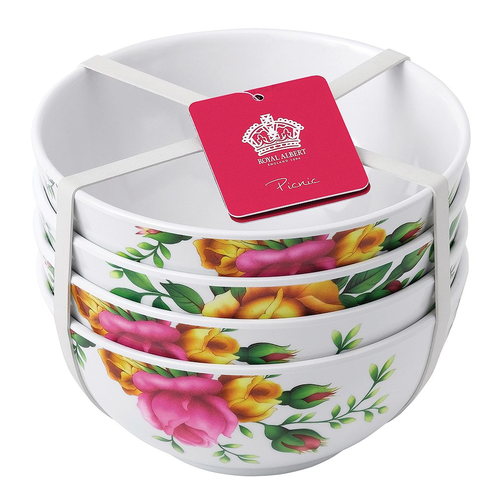 Royal Albert Old Country Roses 4-pc. Melamine Cereal Bowl Set