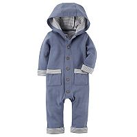 Baby Boy Carter's Hooded Babysoft Coveralls