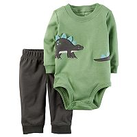 Baby Boy Carter's Embroidered Dino Bodysuit & Pants Set