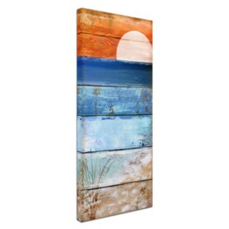 Trademark Fine Art Beach Moonrise II Canvas Wall Art