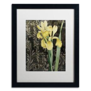 Trademark Fine Art Ode To Yellow Flowers Black Framed Wall Art