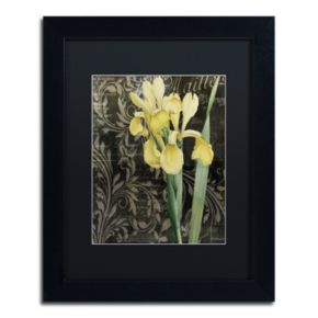 Trademark Fine Art Ode To Yellow Flowers Black Framed Wall Art