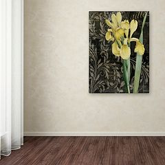 Trademark Fine Art Ode To Yellow Flowers Canvas Wall Art