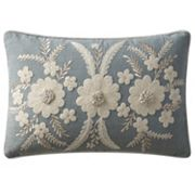 VCNY Celine Floral Embroidered Oblong Throw Pillow
