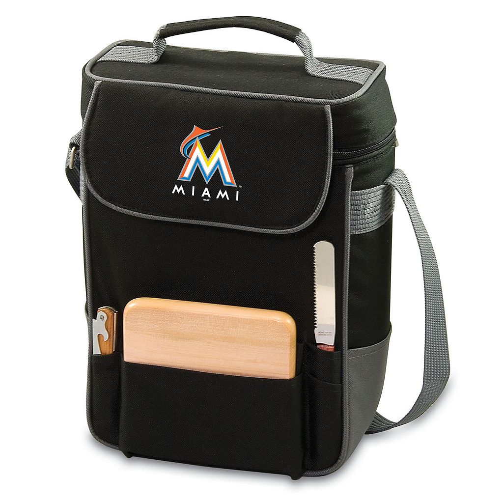 Picnic Time Miami Marlins Duet Insulated Wine & Cheese Bag