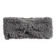 Women's Cuddl Duds Faux Shearling Reversible Headband