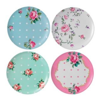 Royal Albert Vintage Mix 4-pc. Melamine Dinner Plate Set