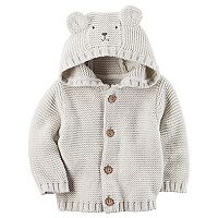 Baby Boy Carter's Hooded Bear Cardigan