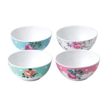 Royal Albert Vintage Mix 4-pc. Melamine Cereal Bowl Set