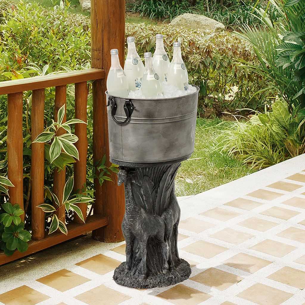 Bombay® Outdoors Metal Giraffe Decorative Storage Bucket Floor Decor
