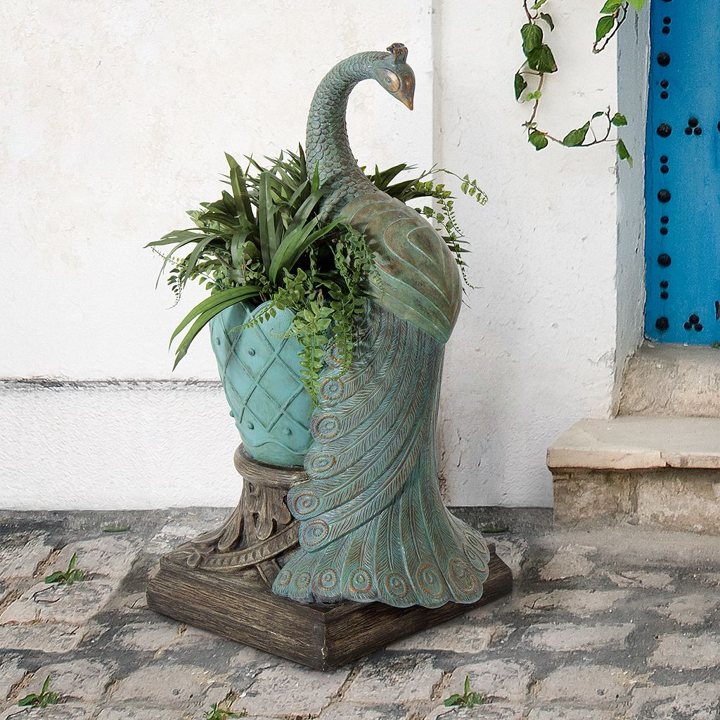 Bombay® Outdoors Royal Peacock Sculpture Planter