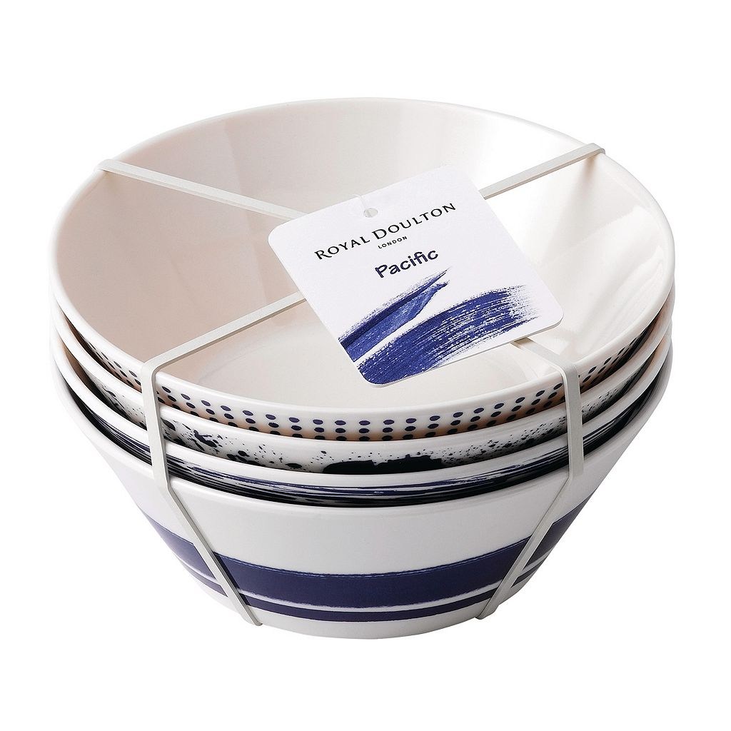 Royal Doulton Pacific 4-pc. Melamine Cereal Bowl Set