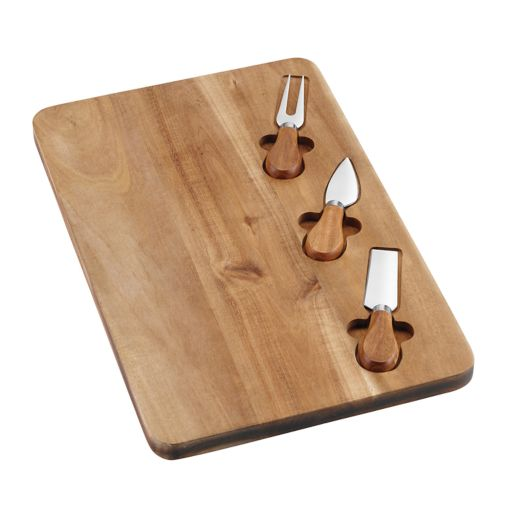 Cuisinart Acacia Wood Cheese Board with Utensil Set