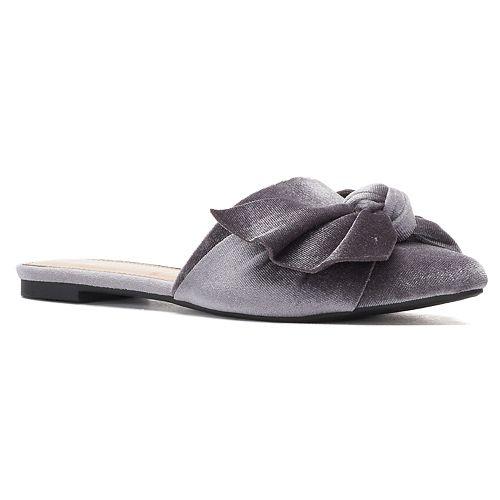 LC Lauren Conrad Peridot Women's Velvet Flat Mules