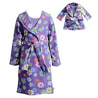 Girls 4-14 Dollie & Me Flower & Rainbow Knee-Length Nightgown & Robe Pajama Set
