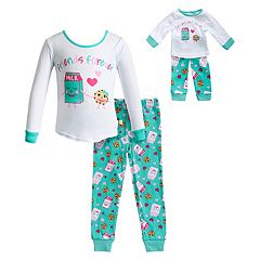 Girls 4-14 Dollie & Me 'Friends Forever' Milk & Cookie Top & Bottoms Pajama Set