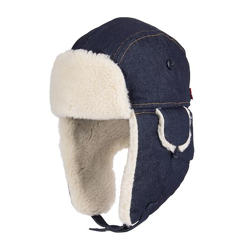 64a90c65e85 Men s Levi s® Sherpa-Lined Wool-Blend Washed Denim Trapper Hat