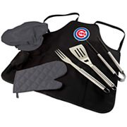 Picnic Time Chicago Cubs BBQ Apron, Utensil & Tote Set