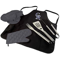 Picnic Time Colorado Rockies BBQ Apron, Utensil & Tote Set