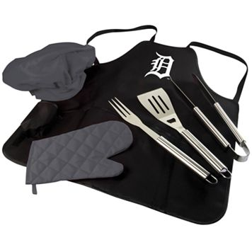 Picnic Time Detroit Tigers BBQ Apron, Utensil & Tote Set