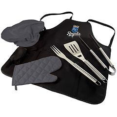 Picnic Time Kansas City Royals BBQ Apron, Utensil & Tote Set