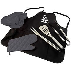 Picnic Time Los Angeles Dodgers BBQ Apron, Utensil & Tote Set