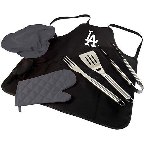 Picnic Time Los Angeles Dodgers BBQ Apron, Utensil & Tote Set
