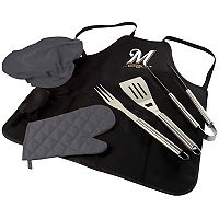 Picnic Time Milwaukee Brewers BBQ Apron, Utensil & Tote Set