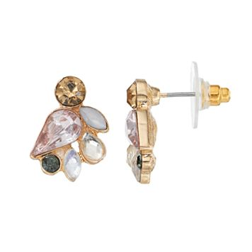 LC Lauren Conrad Faceted Stone Cluster Nickel Free Earrings