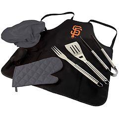 Picnic Time San Francisco Giants BBQ Apron, Utensil & Tote Set