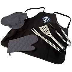 Picnic Time Tampa Bay Rays BBQ Apron, Utensil & Tote Set