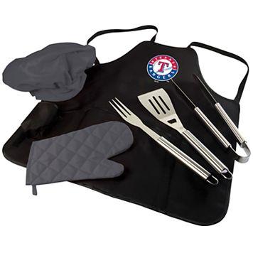 Picnic Time Texas Rangers BBQ Apron, Utensil & Tote Set