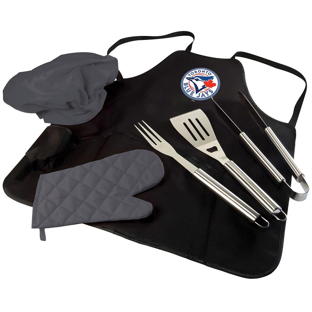 Picnic Time Toronto Blue Jays BBQ Apron, Utensil & Tote Set
