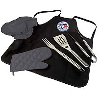 Picnic Time Toronto Blue Jays BBQ Apron, Utensil & Tote Set