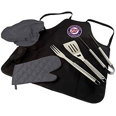 Picnic Time Washington Nationals BBQ Apron, Utensil & Tote Set