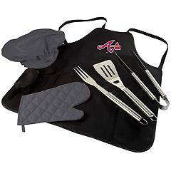 Picnic Time Atlanta Braves BBQ Apron, Utensil & Tote Set