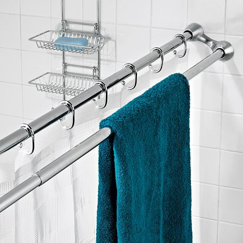 Shower Curtain Rod And Towel Bar