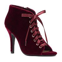 LC Lauren Conrad Granite Women's Velvet High Heels