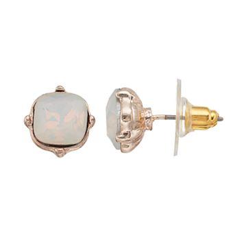 LC Lauren Conrad Faceted Stone Nickel Free Square Stud Earrings