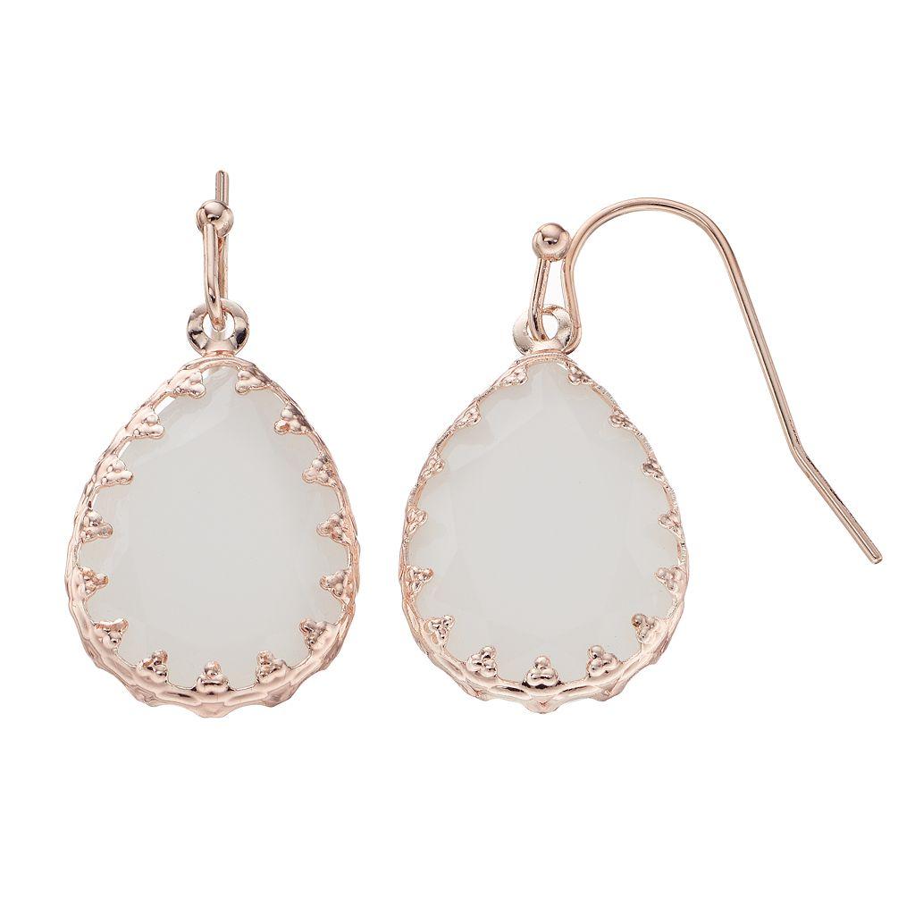 LC Lauren Conrad Bezel Teardrop Earrings