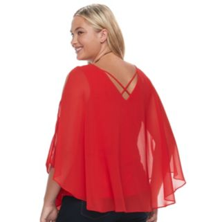 Juniors' Plus Size HeartSoul Flyaway V-Back Top