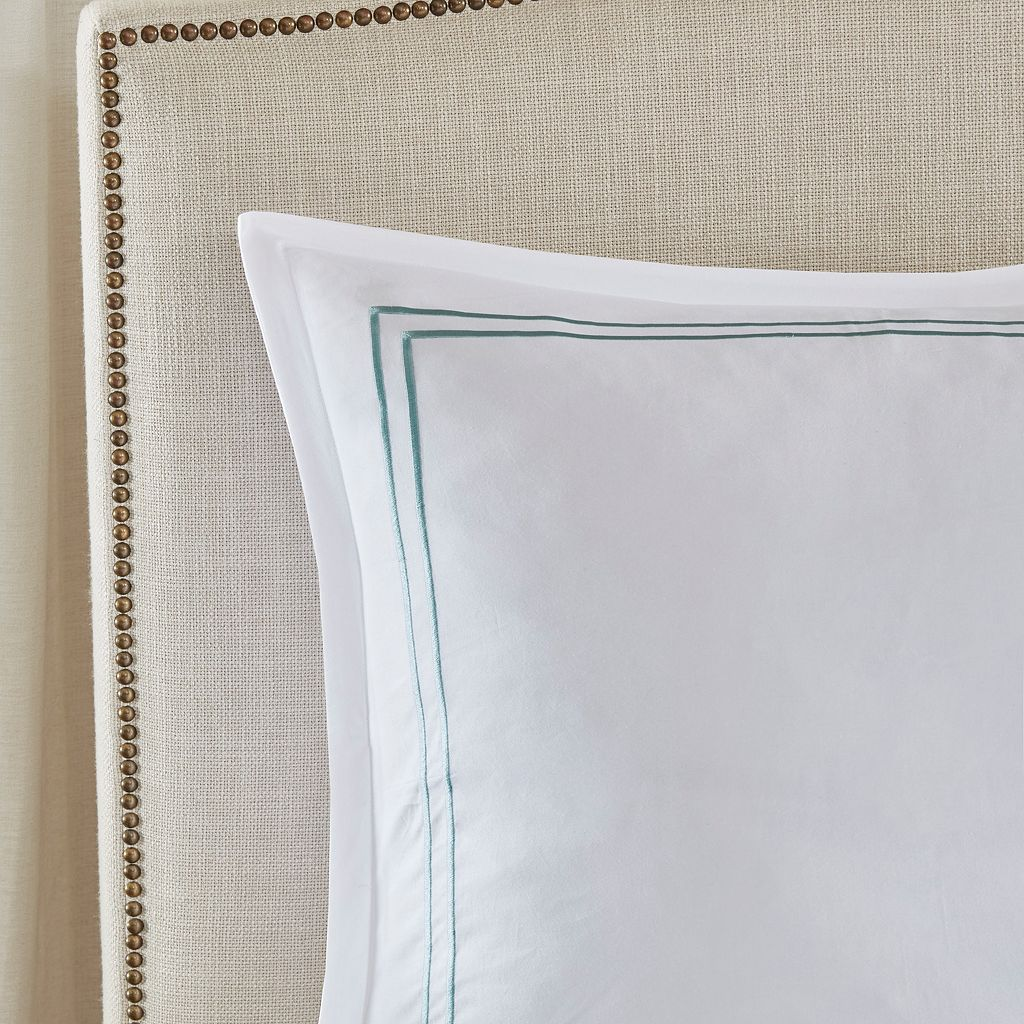 Madison Park 400 Thread Count Embroidered Bedskirt & Sham Set