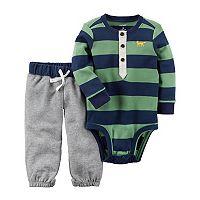 Baby Boy Carter's Striped Henley Bodysuit & Pants Set