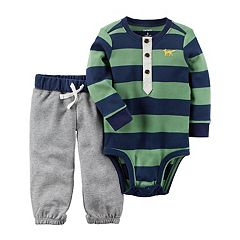 Baby Boy Carter's Striped Henley Bodysuit & Pants Set