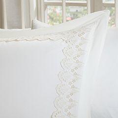 Madison Park Essentials Floral Eyelet Embroidered Bedskirt & Sham Set