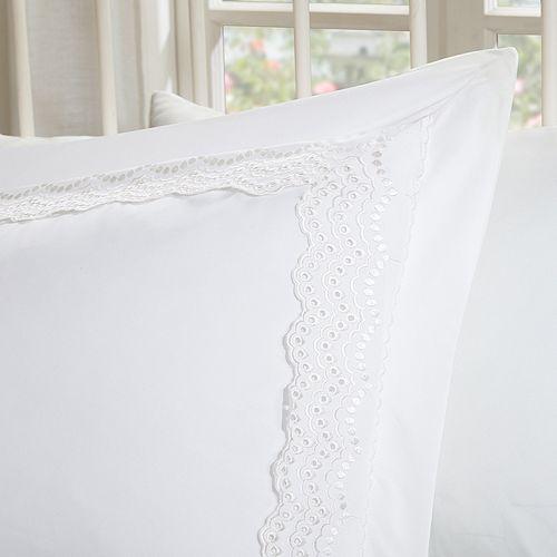 Madison Park Essentials Scalloped Eyelet Embroidered Bedskirt & Sham Set
