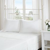 Madison Park Essentials Floral Eyelet Embroidered Sheet Set